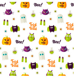 Boo halloween seamless pattern vector