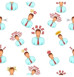 Emotions pattern cartoon style vector