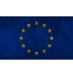 European Flag Grunge vector image