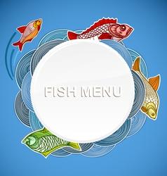 Fish menu template vector image vector image