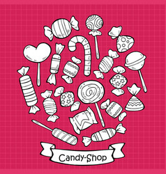 hand drawn sweet products set vector image vector image