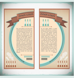 Innovation in industry vertical banners vector