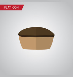 Isolated pie flat icon tart element can be vector