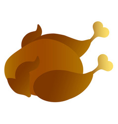 isolated roasted turkey vector image