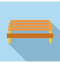 Kids playground bench icon flat style vector