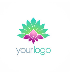 Lotus flower spa color logo vector