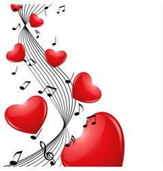 Melody hearts vector