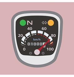 Miles speedometer p vector