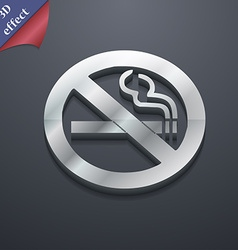 No smoking icon symbol 3d style trendy modern vector