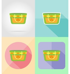 objects for recreation a beach flat icons 15 vector image
