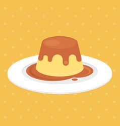 pudding vector image vector image