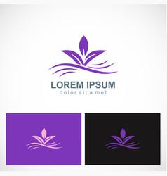 purple leaf abstract beauty logo vector image