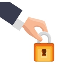 Safe padlock security isolated icon vector