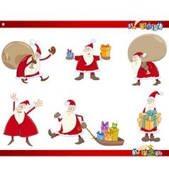 santa claus characters set vector image