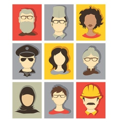 Set - avatars vector image