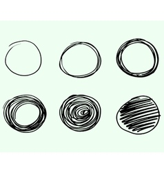 Set of Hand drawn circles logo design vector image