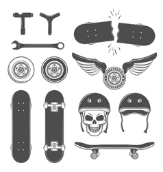 Skateboarding Icon Set vector image