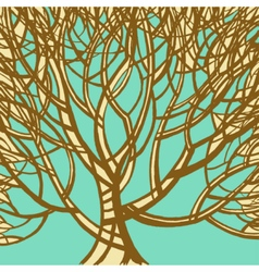 Stylized abstract brown tree Art vector image vector image