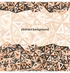 Triangle background colorful abstract vector image vector image