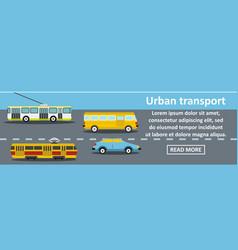 urban transport banner horizontal concept vector image vector image
