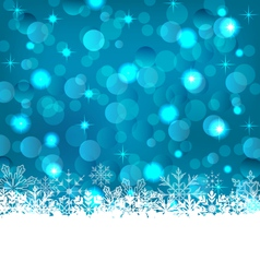 Winter frozen snowflakes background with copy vector