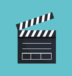 Clapper board cinema icon vector
