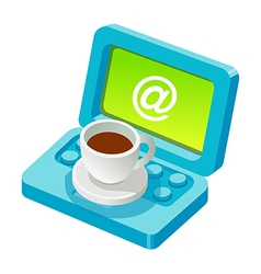 Icon email and coffee vector