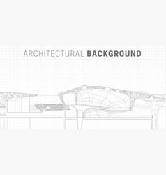 architectural horizontal background vector image