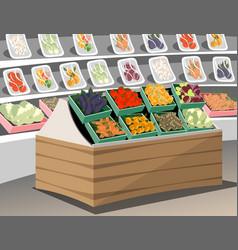 vegetables shop fresh healthy vegetables in vector image