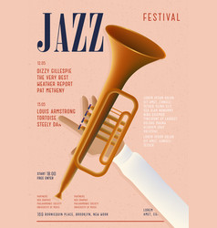 Jazz poster template for musical concert placard vector