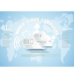 Cloud computing background new style vector