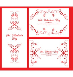 Valentine decorative cards vector