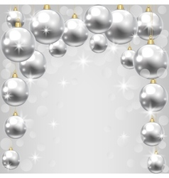 silver baubles vector image