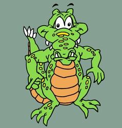 Funy reptile vector