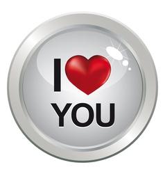 3d love glossy heart vector image