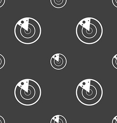 Radar icon sign seamless pattern on a gray vector