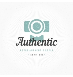 Photographer Hand Drawn Logo Template vector image