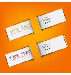 White paper bookmarks with place for text vector