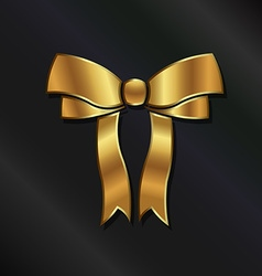 Golden bow logo vector