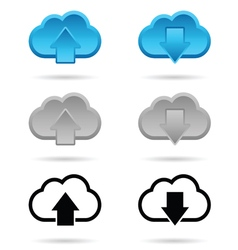 Download and upload icon vector