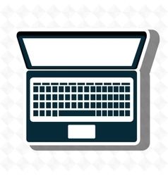 compuer isolated icon design vector image