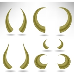 Animal Horns Isolated Bull vector image