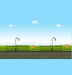 art of garden landscape vector image vector image