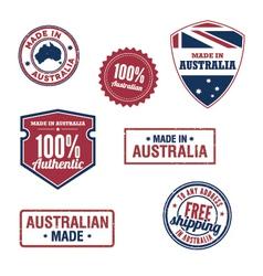 Australian stamps vector image