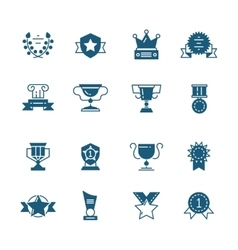 awards prizes and trophy black signs vector image