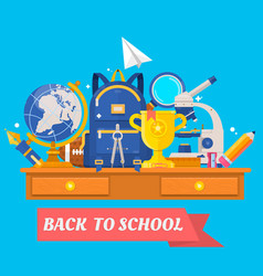 back to school education in the school concept vector image vector image