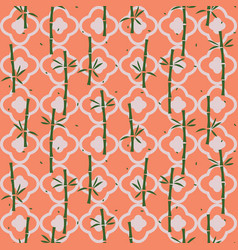 Bamboo plant asian seamless pattern vector