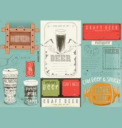 Beer placemat vector