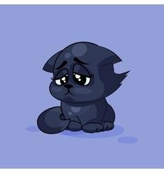 Black cat sad vector