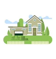 Building home flat vector image vector image